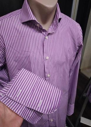 Хлопковая сорочка под запонки