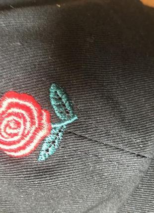 Модная кепка с розой the hundreds rose4 фото