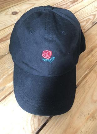 Модная кепка с розой the hundreds rose5 фото