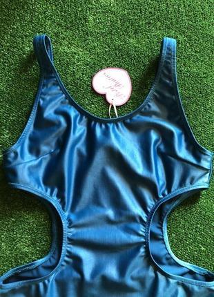 Цельный слитный сдельный закрытый монокини купальник от британского дизайнера xs8 фото