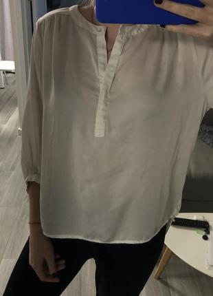 Блузка рубашка с удлиненным задом