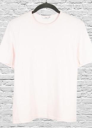 Нежная базовая футболка однотонная, розовая футболка оверсайз