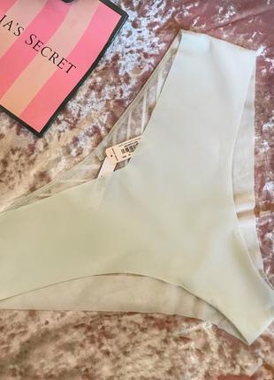 Трусики светло-серые victoria's secret прозрачные сзади, размер l, новые