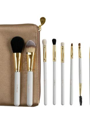 Набор кистей для макияжа ducare beauty pro brush set with bag - 8pc