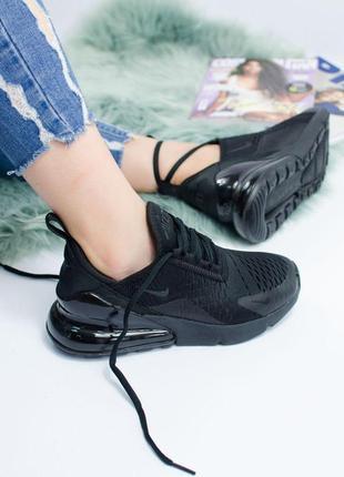 Шикарные кроссовки nike в полностью черном цвете (vesna-leto-ocen)😍