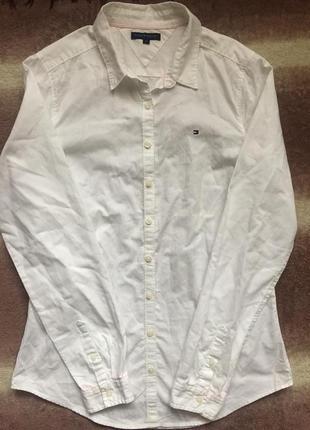 Роскошная vip рубашка s\m белая блуза tommy hilfiger блузка оригинал