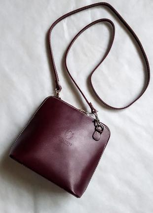 Сумочка кроссбоди сумка клатч vera pelle кожа