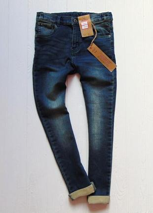 F&f. размер 9-10 лет. новые стрейчевые узкие джинсы для мальчика1 фото