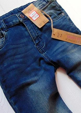F&f. размер 9-10 лет. новые стрейчевые узкие джинсы для мальчика4 фото