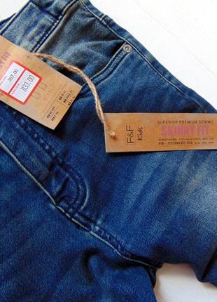 F&f. размер 9-10 лет. новые стрейчевые узкие джинсы для мальчика7 фото