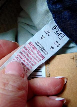 F&f. размер 9-10 лет. новые стрейчевые узкие джинсы для мальчика8 фото