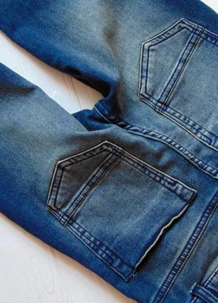F&f. размер 9-10 лет. новые стрейчевые узкие джинсы для мальчика10 фото
