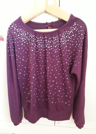 Милая бордовая блузка