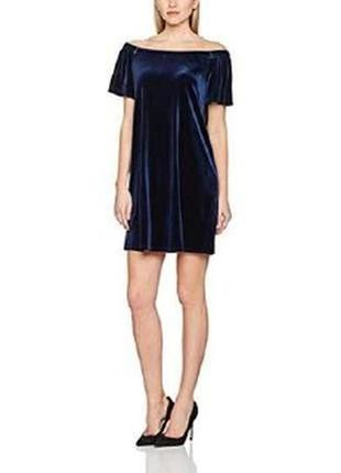 Синее бархатное платье на плечи atmosphere