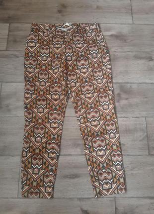 Хлопковые стильные оригинальные брюки h&m. оригинал