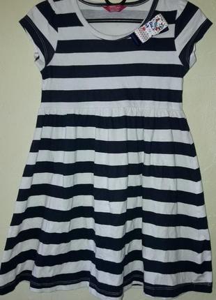 Платье в морском стиле девочке 4-5 лет