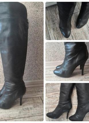 #распродажа#сапоги черные кожа#ботфорты кожа#сапоги на каблуке#высокие сапоги#