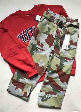 Брюки штани милитари камуфляж zara