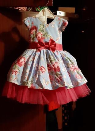 Платье на девочку возраст 1годик очень класнючое3 фото