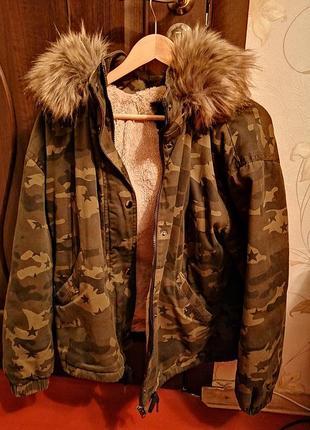 Крутая камуфляжная куртка зима - весна
