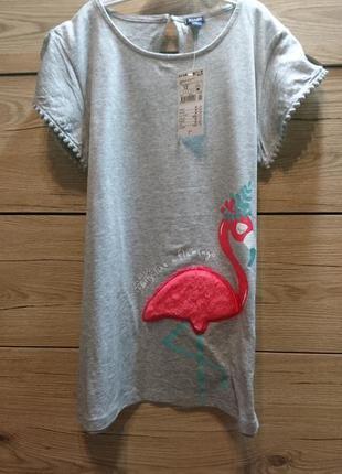 Яркая футболка с фламинго kiabi