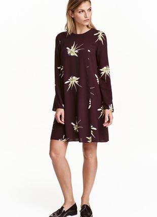 Бордовое платье цвета марсала zara1 фото