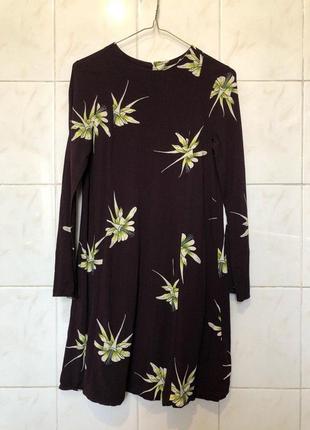 Бордовое платье цвета марсала zara4 фото