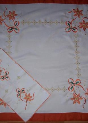 Набор: скатерть + салфетка, с вышивкой