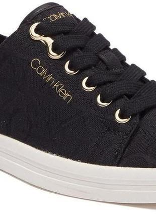 Calvin klein оригинал кеды черные жаккардовые с логотипом ck бренд из сша3 фото