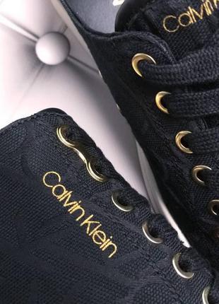 Calvin klein оригинал кеды черные жаккардовые с логотипом ck бренд из сша11 фото
