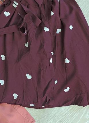Бордовое платье в сердечки new look new look4 фото