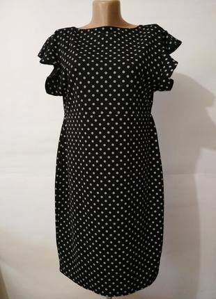 Новое платье в горошек для беременных boohoo uk 16/44,/xl