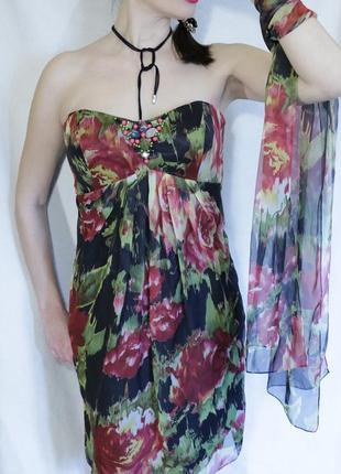 Испания. летнее шикарное платье для пышной груди