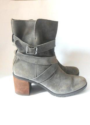 Замшевые фирменные ботинки clarks, р.42 код b4212
