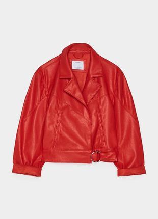 Куртка из искусственной кожи bershka3 фото