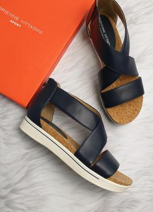Adrienne vittadini оригинал синие сандалии на платформе бренд из сша