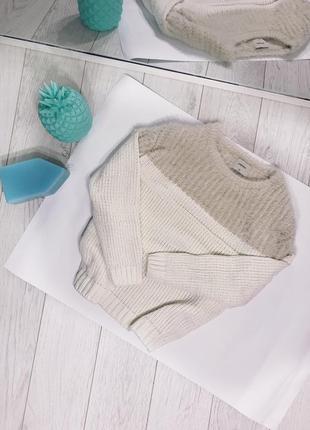 Вязаный свитер , вязаная кофта , белая
