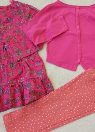 Big sale! комплект набор реглан, платье, штаны лосины на 3-5 лет2 фото