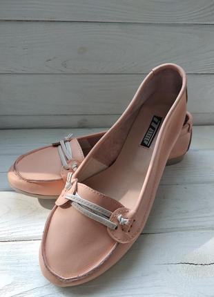 Кожаные женские балетки туфли мокасины топсайдеры наложка обмен возврат