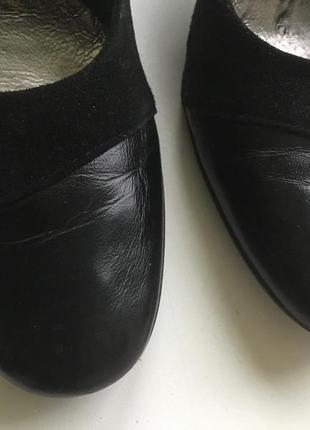 Туфли кожа+замш,чёрные
