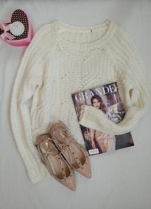 Актуальный укороченный свитер оверсайз акционная цена/джемпер/пуловер/свитшот