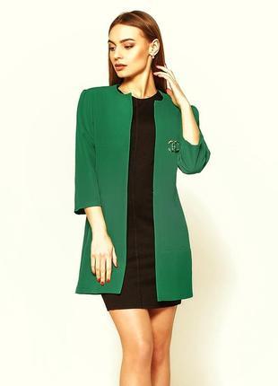 Зелёный травяной кардиган пиджак жакет на весну, лето есть другие цвета