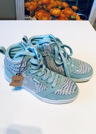 Новые кроссовки цвета тиффани сникерсы кеды с перламутром
