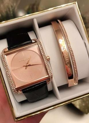 Michael kors- часы + браслет, в подарочной упаковке. оригинал!