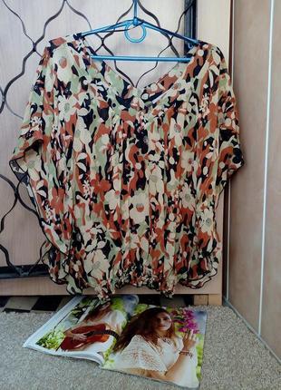 Be beau англия/ стильная, актуальная блузка с воланами, цветочный принт