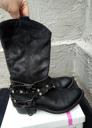 Сапоги, ботинки в ковбойском стиле из натуральной кожи от бренда san marina