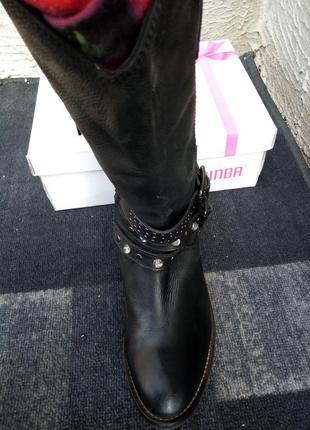 Сапоги, ботинки в ковбойском стиле из натуральной кожи от бренда san marina4 фото