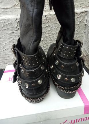 Сапоги, ботинки в ковбойском стиле из натуральной кожи от бренда san marina7 фото