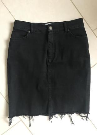 Юбка джинсовая стильная модная дорогой бренд other stories размер 38-40