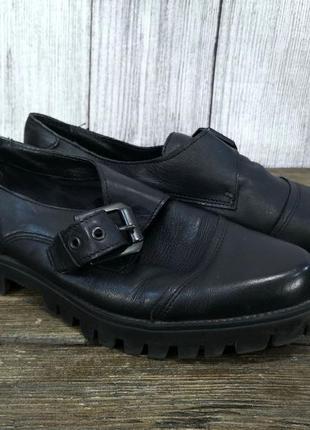 Туфли стильные catwalk, кожаные, удобные